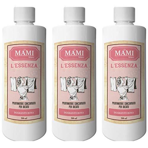 MAMI Milano L'Essenza, Profuma Bucato per Lavatrice, Confezione da 3x500ml - Diamante Rosa