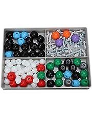 iFCOW Kit de modelo molecular orgánico inorgánico molecular Kit de estructura de 179 piezas de plástico conveniente larga vida orgánica para enseñanza y uso en laboratorio