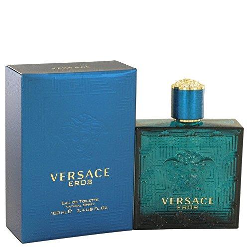 Versace Eros by Versace for Men Eau De Toilette Spray, 3.4 Ounce