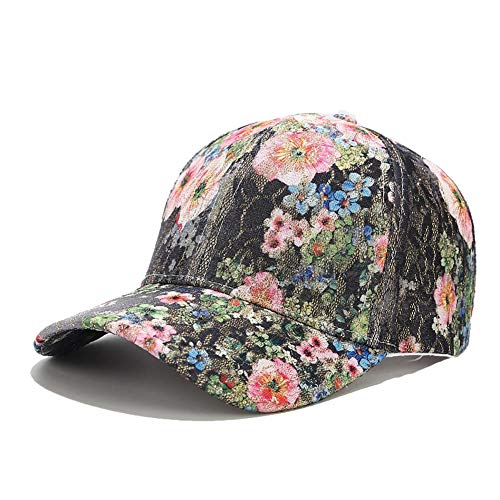 Quanhaigou Premium Floral Lace Flower Hawaiian Adjustable Baseball Hats Men's Women's Hip-Hop Snapback Caps