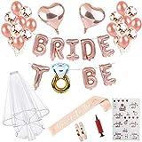 Braut to Be Deko Accessoires für den Junggesellinnenabschied,Luftballons+Banner+Schärpe+weißer...