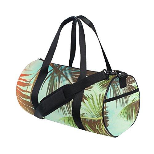 ISAOA Bolsa de Gimnasio Palma de Coco Palma Árbol Deportes Duffel Bolsa para Mujeres y Hombres