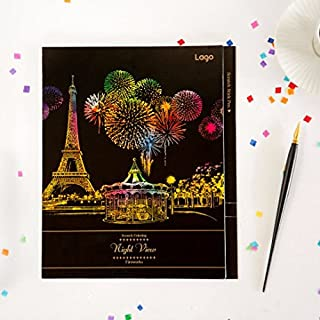 Scratch Coloring Art Therapy- Night View Fireworks
