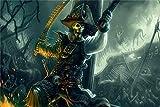 FAWFAW Puzzle 500 Piezas, Calavera Pirata con Espada