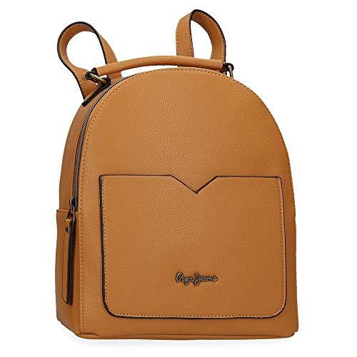 Pepe Jeans India Rucksack Handtasche Gelb 22x25x10 cms Synthetisches Leder
