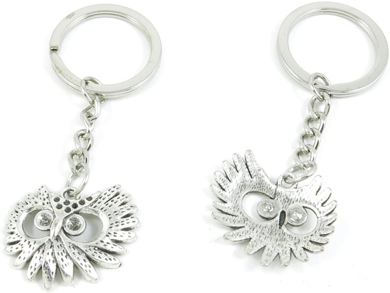 130 Pieces Fashion Jewelry Keyring Keychain Door Car Key Tag Ring Chain Supplier Supply Wholesale Bulk Lots Z6BA9 Owl