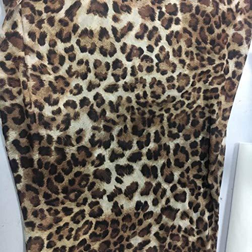 Lenfesh Vestido Ajustado Corto Estampado de Tirantes Vestido de Chaleco con Estampado de Leopardo Atractivo de Moda para Mujer