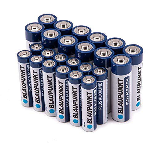 [Pack of 24] Blaupunkt Combo AA and AAA Performance Alkaline 1.5 Volt Batteries | Long Lasting All-Purpose High Capacity Battery for Household and Business Use