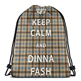 Not Applicable Outlander Fraser Tartan Keep Calm And <span class='highlight'><span class='highlight'>Dinna</span></span> Fash Drawstring Bags Gym Bag Sports Backpack Sackpack