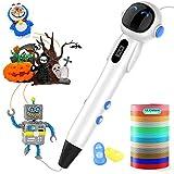 ShuBel Stylo 3D, 3D Stylo pour Enfant et Adulte Robot Créatif Professionnel 3D Pen écran LCD Colorés avec 2 Filament PLA/ABS comme Cadeau de Pâques- Robot