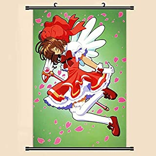 mgrlhm Anime Manga Card Scroll Painting Cherry Blossom Wall Scroll Painting 40x60 Picture Wallpaper Sticker Poster 40x60cm 4