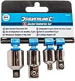 Silverline 793755 - Adaptadores para llaves de vaso, 4 pzas