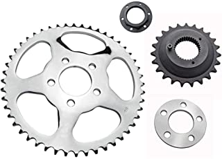 Belt-to-Chain Conversion Kit - Fits 1991-1999 Harley Sportster XL Models - 22 Tooth Front Sprocket / 48 Tooth Rear Sprocket for 530x120 Chain (19-0456)