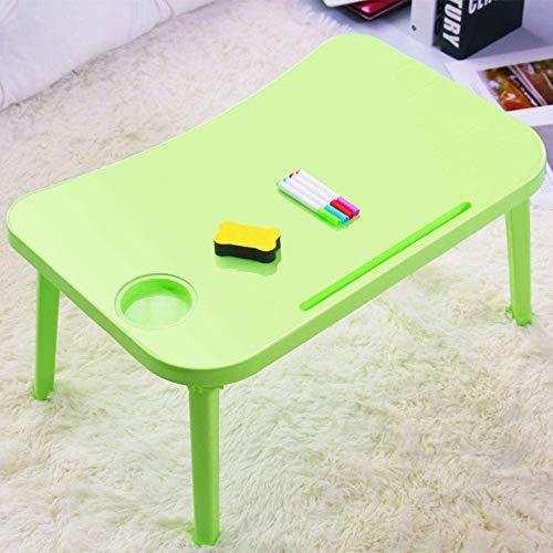 Laptop-Tisch für Sofa Tisch Kunststoff faltbar rutschfest mit Kartenschlitz Tischplatte kann nach Belieben grün gestrichen werden