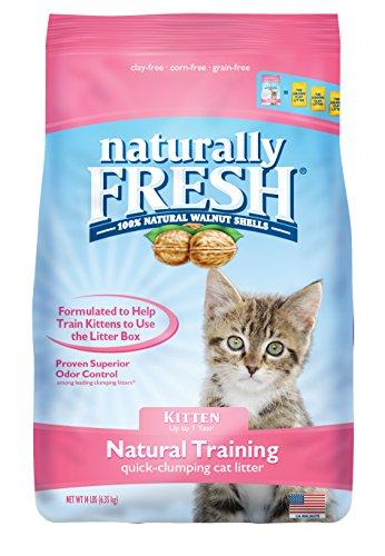 Arena para gatos con base de nuez de aglomeración rápida sin perfume de Naturally Fresh
