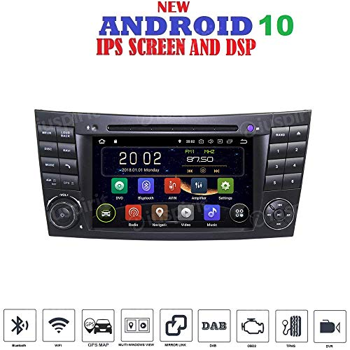 ANDROID 10 GPS DVD USB SD WI-FI BT Autoradio 2 DIN Navi Mercedes E-Klasse W211 / Mercedes G-Klasse W463, Mercedes CLK-Klasse W209, Mercedes CLS-Klasse W219, E200, E220, E240, E270, E280, E300