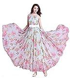 A one fashion supereb waitless titali print gown Free Size (pink-white-titali-free Size)