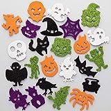 Baker Ross AX231 Adesivi Di Gommapiuma Di Halloween Con Brillantini - Confezione Da 100, Perfetto Per Bambini E Adulti Per Personalizzare Progetti D'Arte