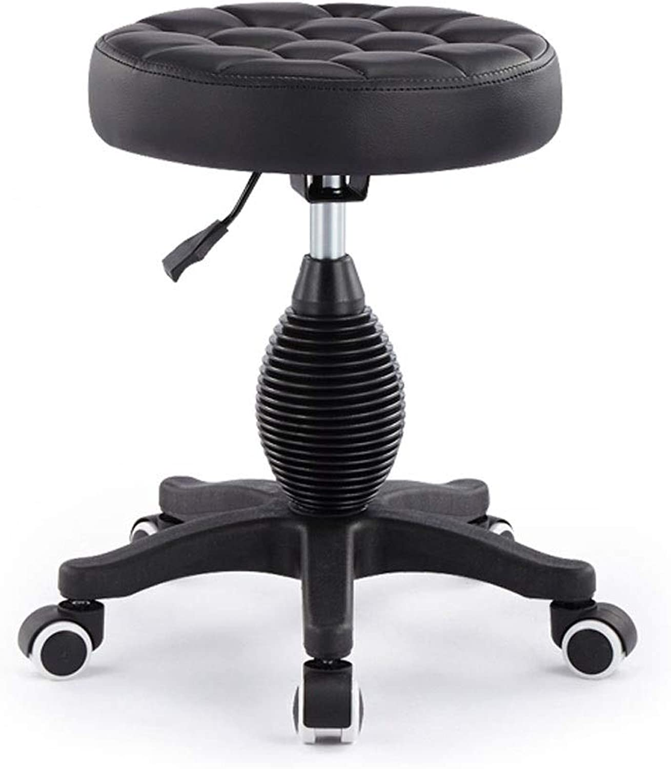 Round Beauty Stool Lift Multi-Function Mobile Work Bench Cafe Home Dining Chair Barber Shop Nail Chair (color   B)