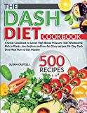 The Dash Diet Cookbook: A Great Cookbook to Lower High Blood Pressure. 500 Wholesome, Rich in Plants, low-Sodium and low-Fat Diary Recipes. 28- Day Dash Diet Meal Plan to Get Healthy!
