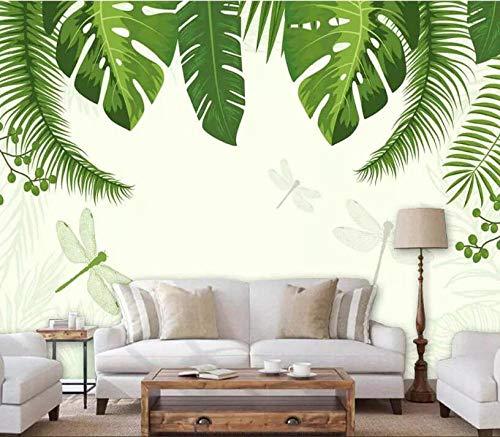 Muurschildering achtergrond eigen 3D fotobehang Zuidoost-Azië Tropisch regenbos banaanblad foto achtergrond wandbehang 200 * 140cm