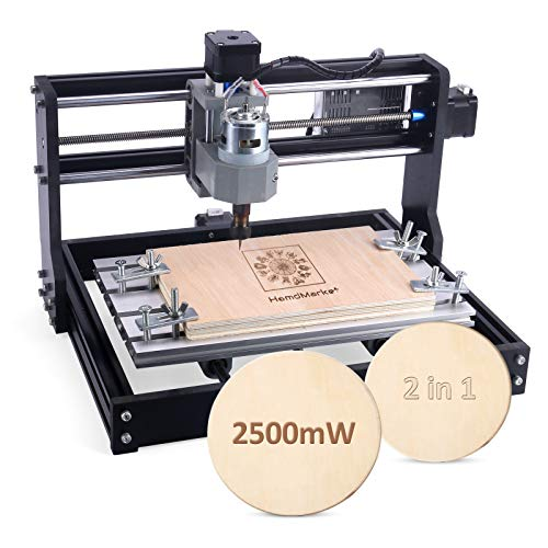 【2.5W】CNC 3018 Pro Engraving Machine with CNC Touch Plate, Mini 3 Axis CNC Router Machine GRBL Control Wood Plastic PCB Milling Machine with Offline Controller