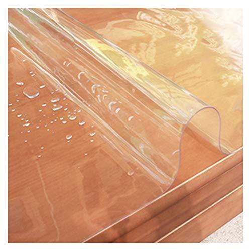Mantel Transparente A Prueba de Aceite Impermeable Mantel de Plástico PVC Usado para Cocina, Cafetería, Gabinete de TV, 2,0 Mm, 22 Especificaciones (Color : 2.0mm, Size : 60X120cm)