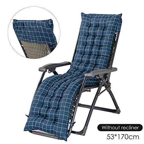 Sun Lounger Cushion(cushions Only) Recliner Cushions Replacement Garden Terrace Thick Chair Pad Sofa Cushion For Relaxing Vacation 48x155cm/ 48x170cm