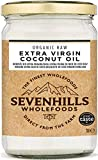 Sevenhills Wholefoods 1L Organic Extra Virgin Raw Coconut Oil (Cold-Pressed) for Cooking, Baking