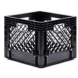 Jezero MC-16-S2 Multi-Purpose Milk Crate, Black, Square, 13' x 13' x 11'