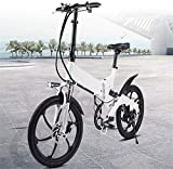 MQJ Ebikes Bicicleta Eléctrica Plegable para Adultos, Bicicleta de Aleación de Aluminio de 20 Pulgadas, Bicicleta de Cercanías de la Ciudad con 36V 7.8Ah Batería de Litio Extraíble, Frenos de Disco D