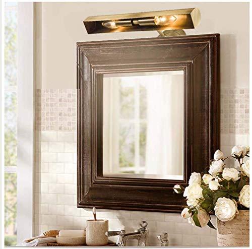 Mkjbd Wandlamp, wandlamp, Amerikaans, koper, spiegel voor badkamer, spiegel, eenvoudige ledlampen, zuiver koper, spiegel