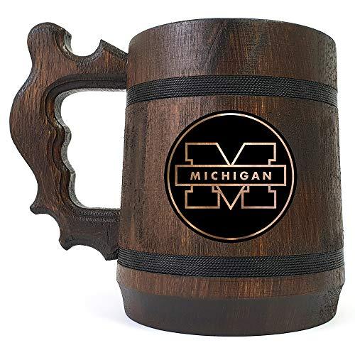 University of Michigan Beer Mug, Sport Beer Stein, University Sport Team, Beer Lover Gift, Beer Stein, Gift for Gamer, Gift for Him, Engraved Beer Mug