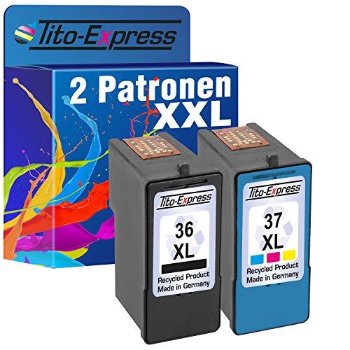 Tito-Express PlatinumSerie Set 2X Druckerpatrone für Lexmark 36 XL + 37 XL X5650 X5690 X6650 X6675 X6690 Z2400 Z2410 Z2420