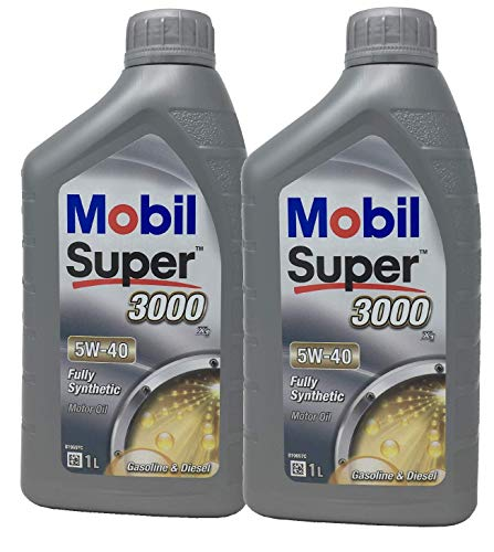 Aceite Lubricante Motor - Mobil Super 3000 X1 5W-40, Pack 2 litros