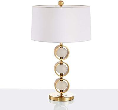 Lampe De Table Décorative en Marbre Doré, Lampe De Chevet