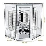 Artsauna Eck Infrarotkabine Nyborg E150V Vollspektrumstrahler & Ambiente LED Beleuchtung – Kabine für 4 Personen – 150 × 150 cm – Wärmekabine - 2