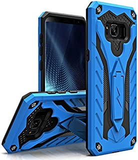 Zizo Static Series Compatible with Samsung Galaxy S8 Plus Case Military Grade Drop Tested with Built in Kickstand Blue Black