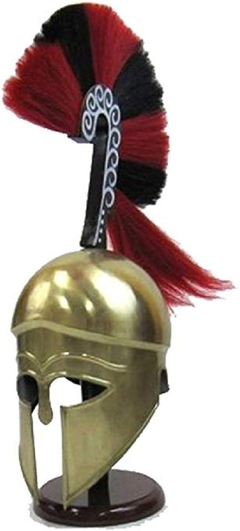 NauticalMart Greek Helmet Outlet Trust SALE with Plume Plated Brass Golden