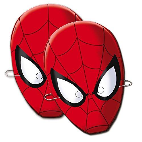 Spider-Man- Spiderman Verbetena 014300010 Lot de 6 Masques