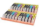 PGI-550XL CLI-551XL TONER EXPERTE® 20 XL Cartuchos de Tinta compatibles para Canon PIXMA iP7250 iP8750 iX6850 MX925 MX725 MG5650 MG6350 MG6450 MG6650 MG5550 MG5450 MG7150 MG7550 | Alta Capacidad