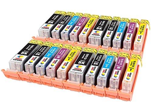 PGI-550XL CLI-551XL TONER EXPERTE 20 XL Cartuchos de Tinta compatibles para Canon PIXMA iP7250 iP8750 iX6850 MX925 MX725 MG5650 MG6350 MG6450 MG6650 MG5550 MG5450 MG7150 MG7550 | Alta Capacidad