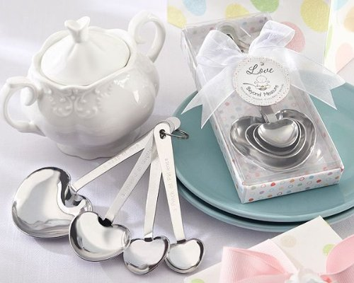 Love Beyond Measure Stainless-Steel Measuring Spoons Baby Shower Favor -48 count