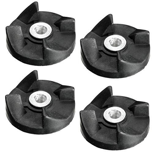 xingxing Industrial Hardware - Juego de 4 piezas de repuesto para engranajes de goma negra para Magic Bullet Cross y hoja plana