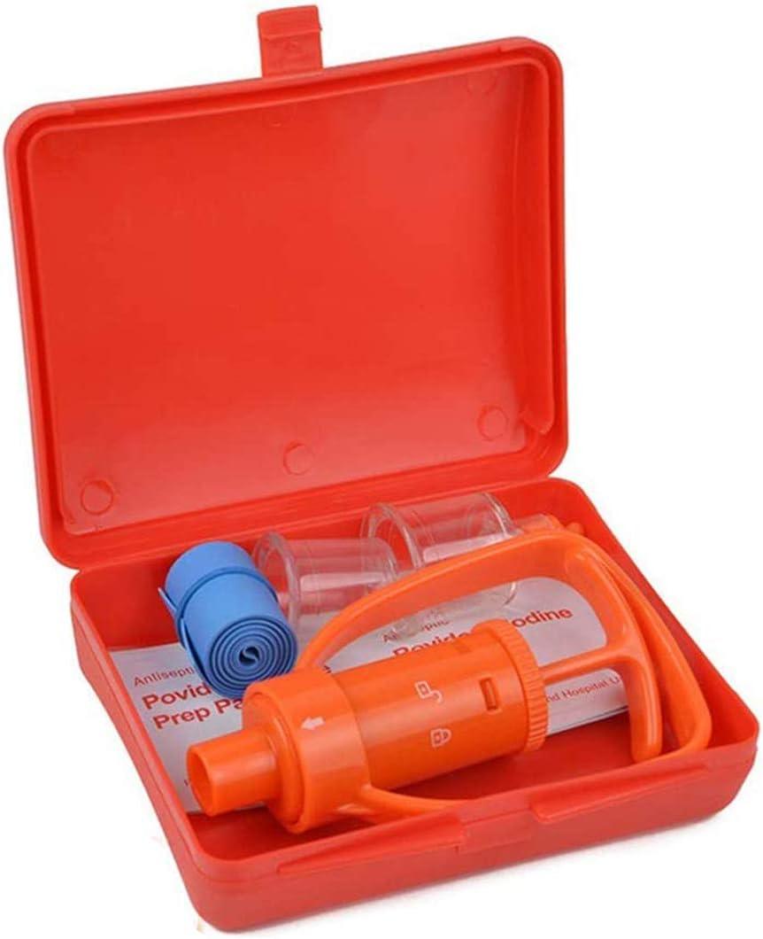 Kit de bomba extractora, primeros auxilios suministros emergencia kit de mordedura de serpiente veneno succión bomba y Sting para senderismo con mochila camping Exploración aventura al aire libre