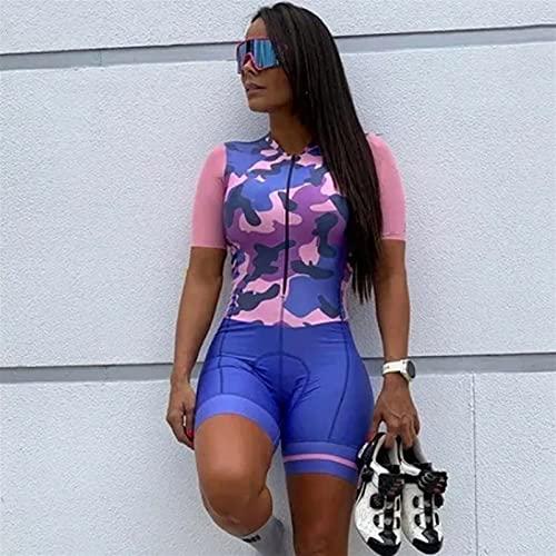 Trisuit Triathlon Women, Triathlon Abiti, TRI Suit Women-Suit One-Piece Manica corta per il ciclismo (Color : 5, Size : XXXXX-Large)