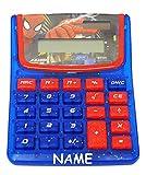 alles-meine.de GmbH Taschenrechner - Spider-Man - incl. Name - SOLAR - OHNE Batterien funktionierend ! - Kindertaschenrechner - für Kinder