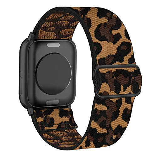 FRDERN Elastic Watch Band Compatible with Apple Watch 38mm 40mm 42mm 44mm, Adjustable Soft Nylon Stretch Replacement Strap for iWatch Series 6/5/4/3/2/1 SE Women Men