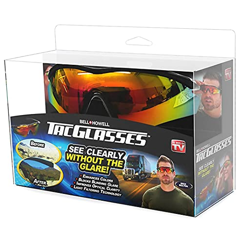 TAC GLASSES Tac Polarized Sunglasses Sports Outdoor Sunglasses for Men/Women, Unisex, Military Eyewear Original As Seen On TV, NEW IN BOX(1 Pack)