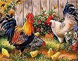 ZGGDYY Puzzle 1000 Teile Huhn auf dem Bauernhof Gemälde Puzzles Spielzeug für Erwachsene Kinder Finish Größe 75x50CM Beste Wohnkultur